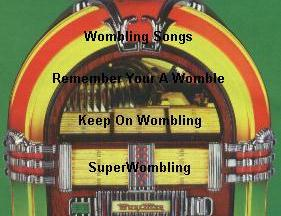 Image map of Womble Album Links. From the top, Wombling Songs, Remember You're A Womble, Keep On Wombling and Superwombling.